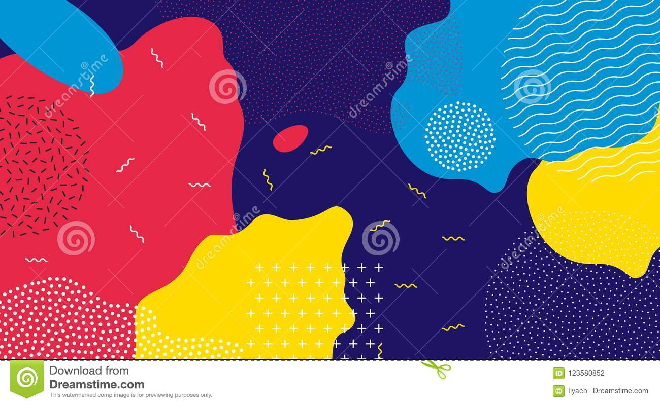 Abstract pop art liquid color pattern background.
