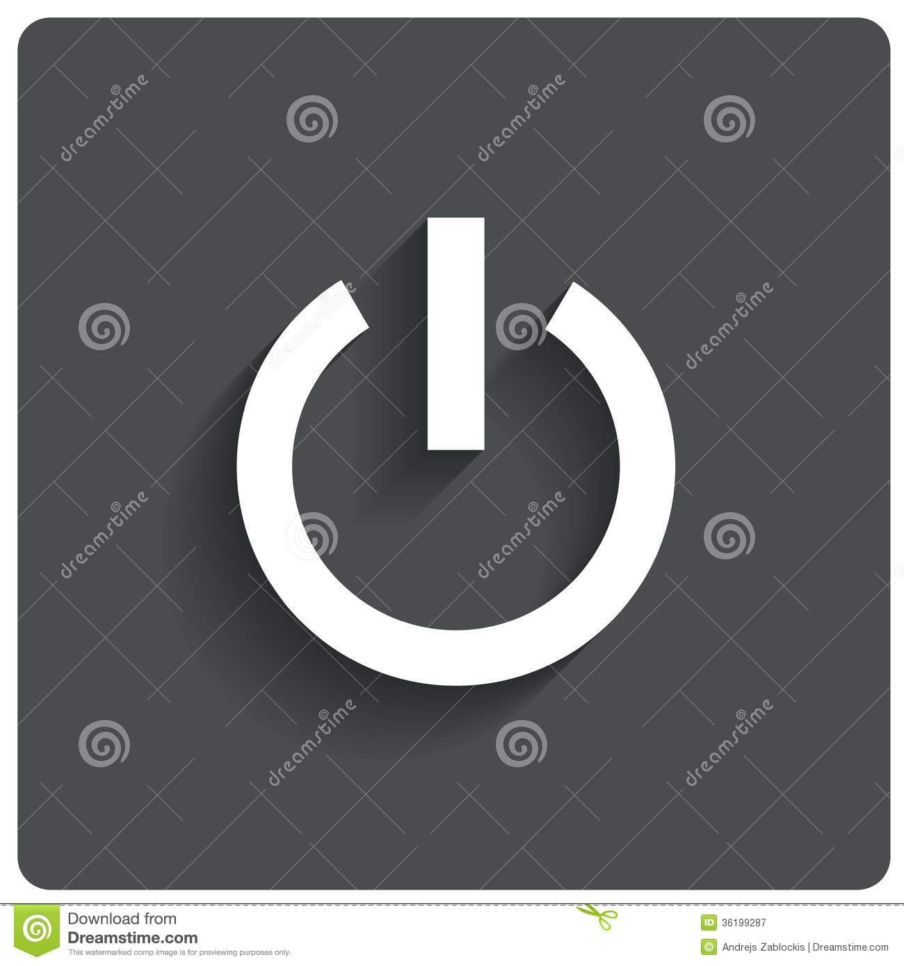 Abstract Power Button Icon Switch Off Symbol Stock Illustration