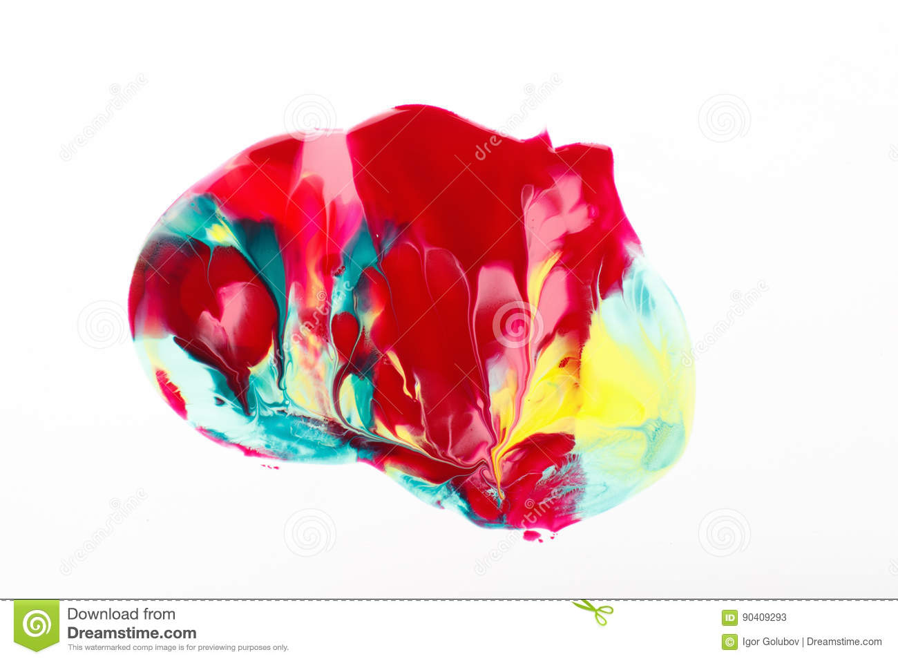 Abstract Print Modern Art Creative Color Paint Stock Image