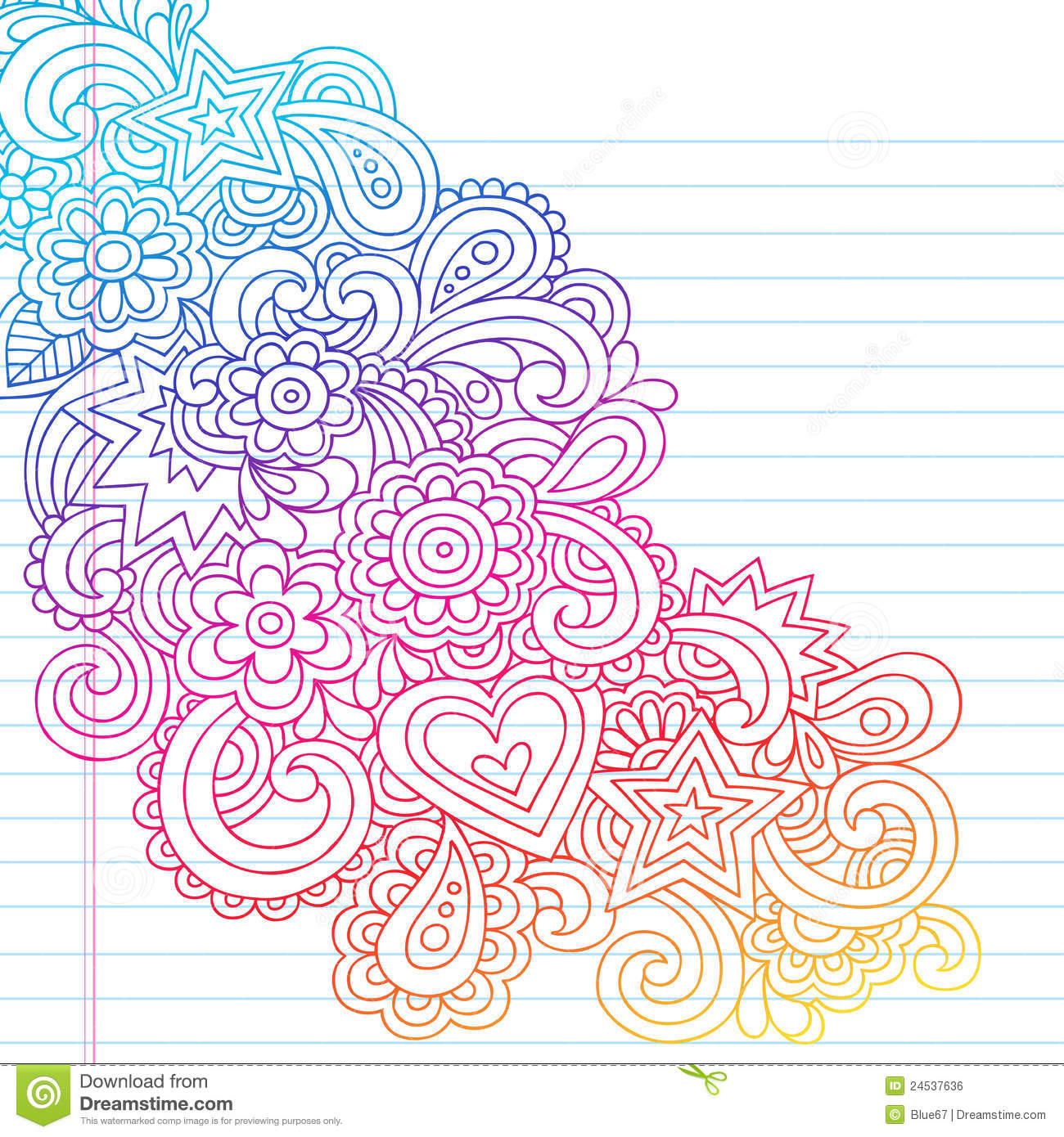 Abstract Psychedelic Notebook Doodles Royalty Free Stock Image - Image ...
