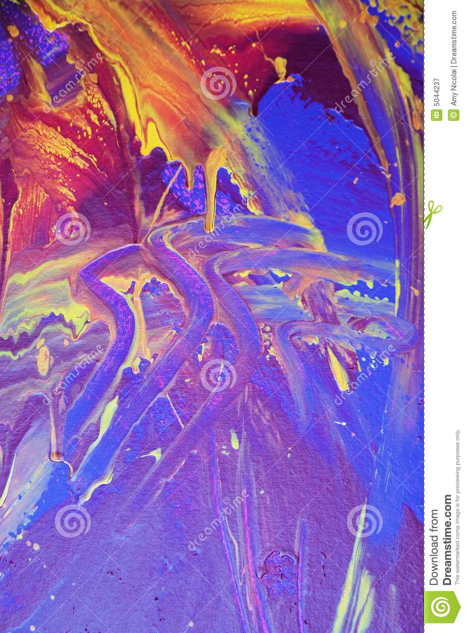 Abstract purple & blue paint
