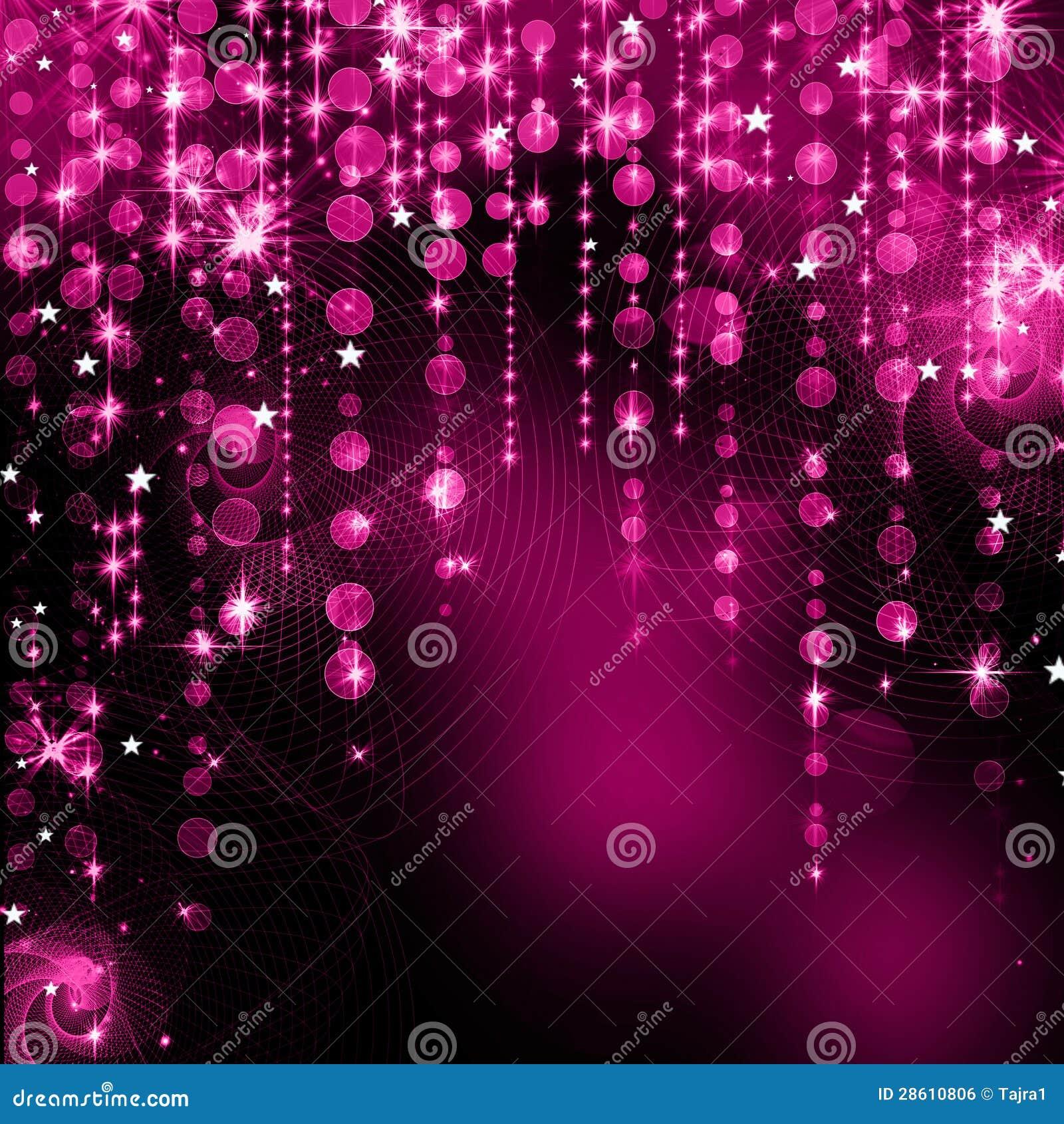 Abstract purple christmas lights stock illustration