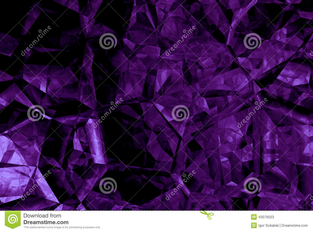 Abstract Purple Crystal Background Stock Photo Image