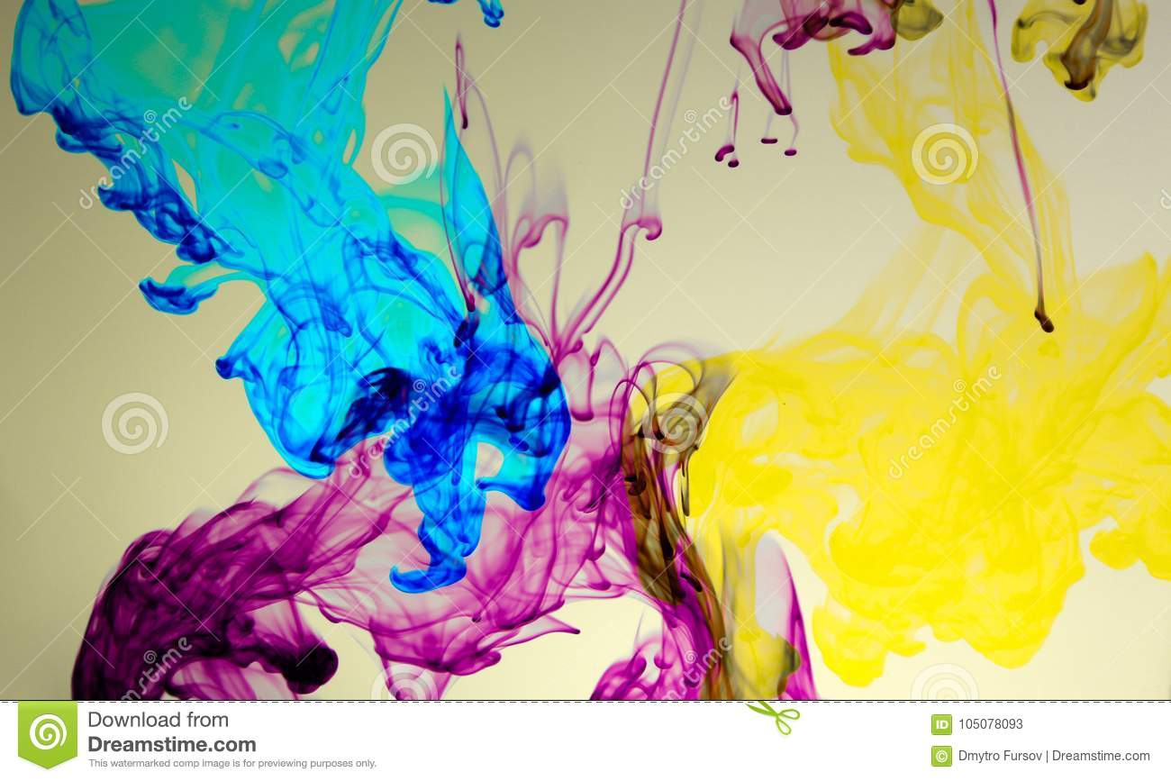 abstract colourful paint in water background stock image image of