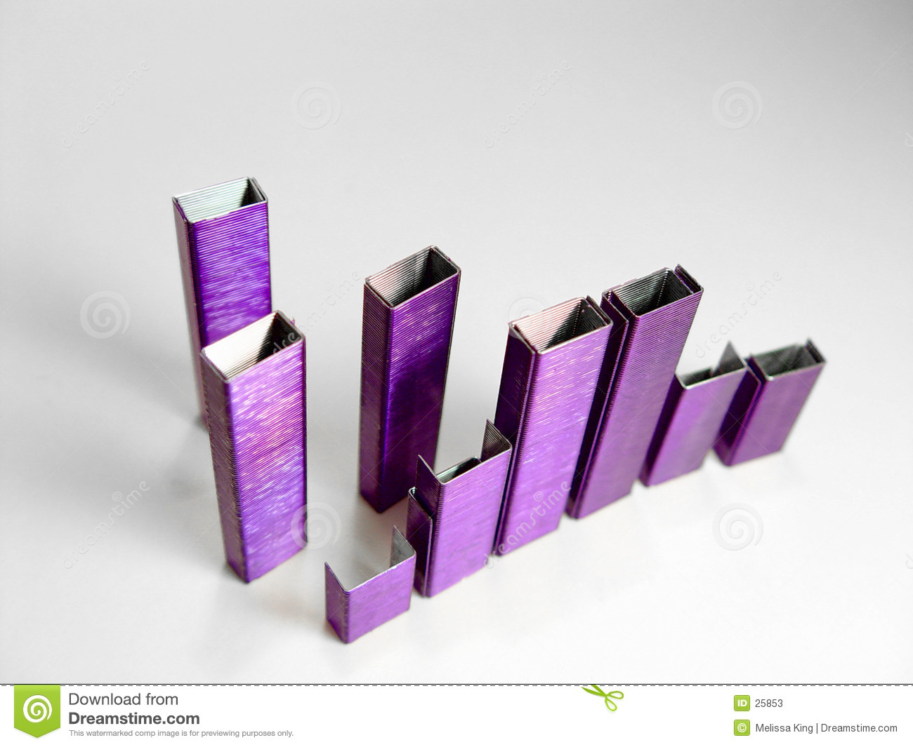 Abstract Purple Staples