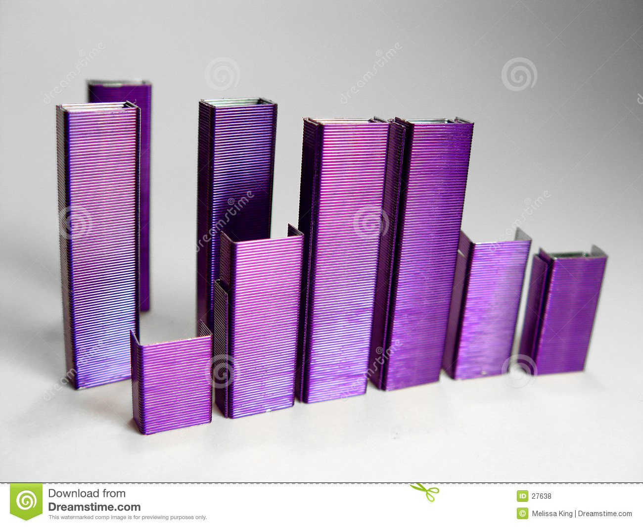 Abstract Purple Staples II