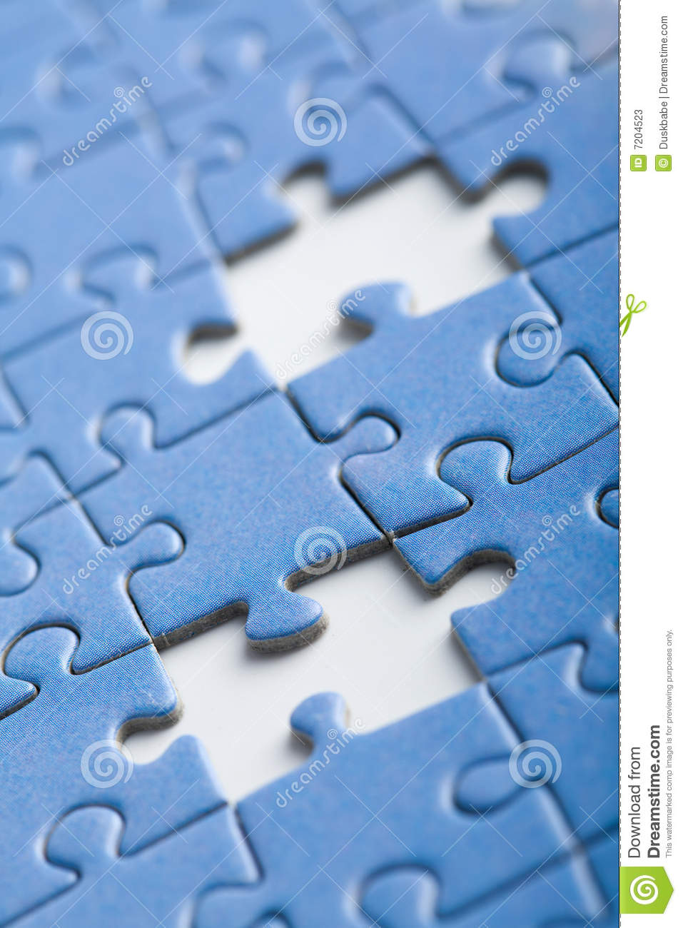 Abstract Puzzle Background With Two Missing Pieces Stock ...