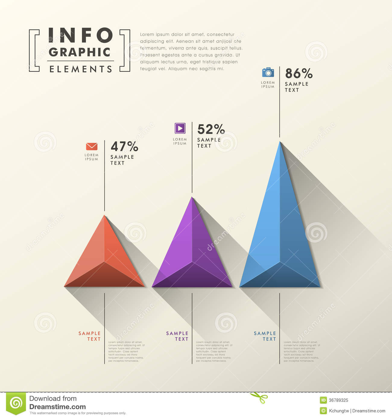abstract pyramid chart infographics royalty free stock
