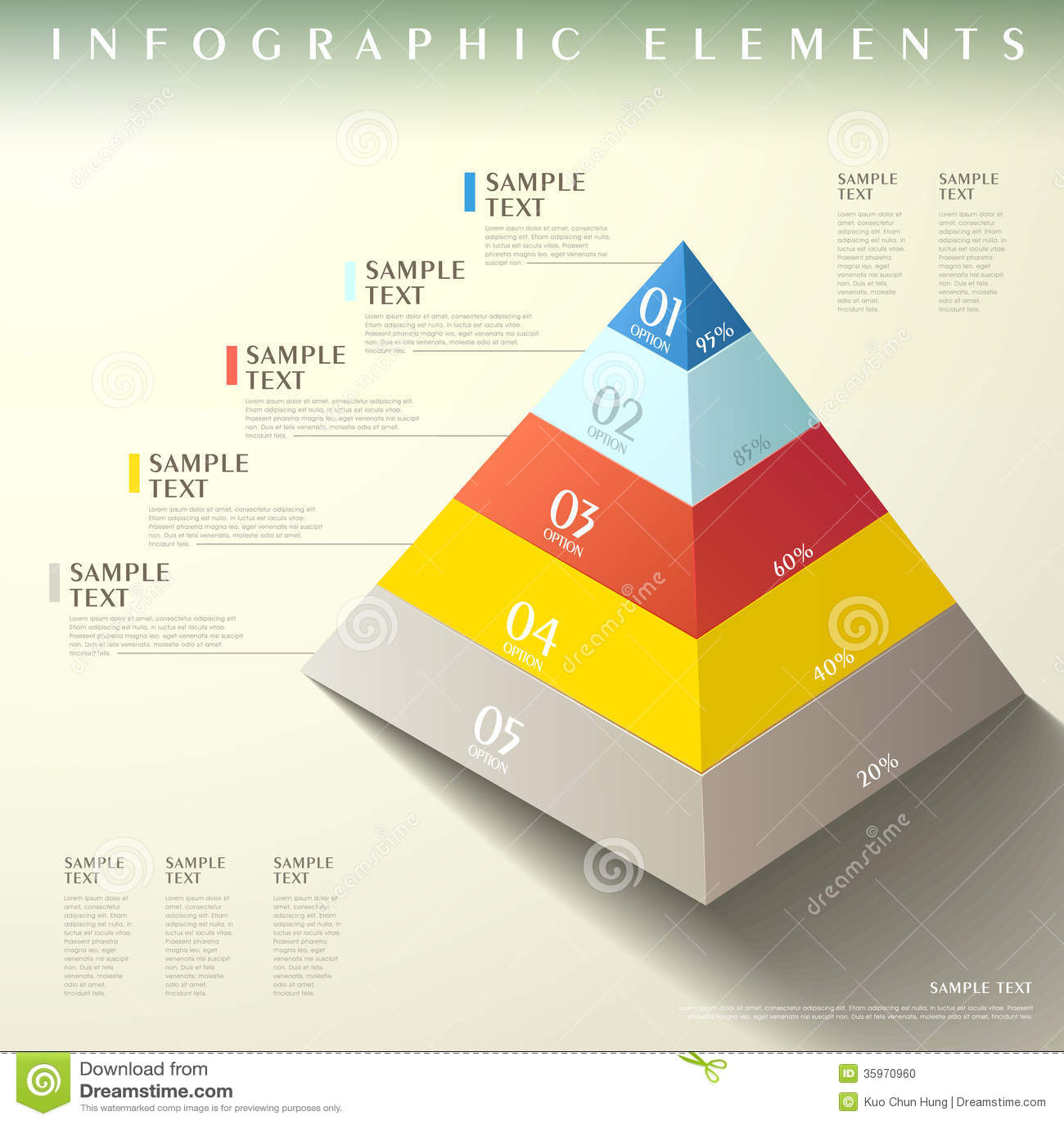 Modern Graphic Pyramid Design