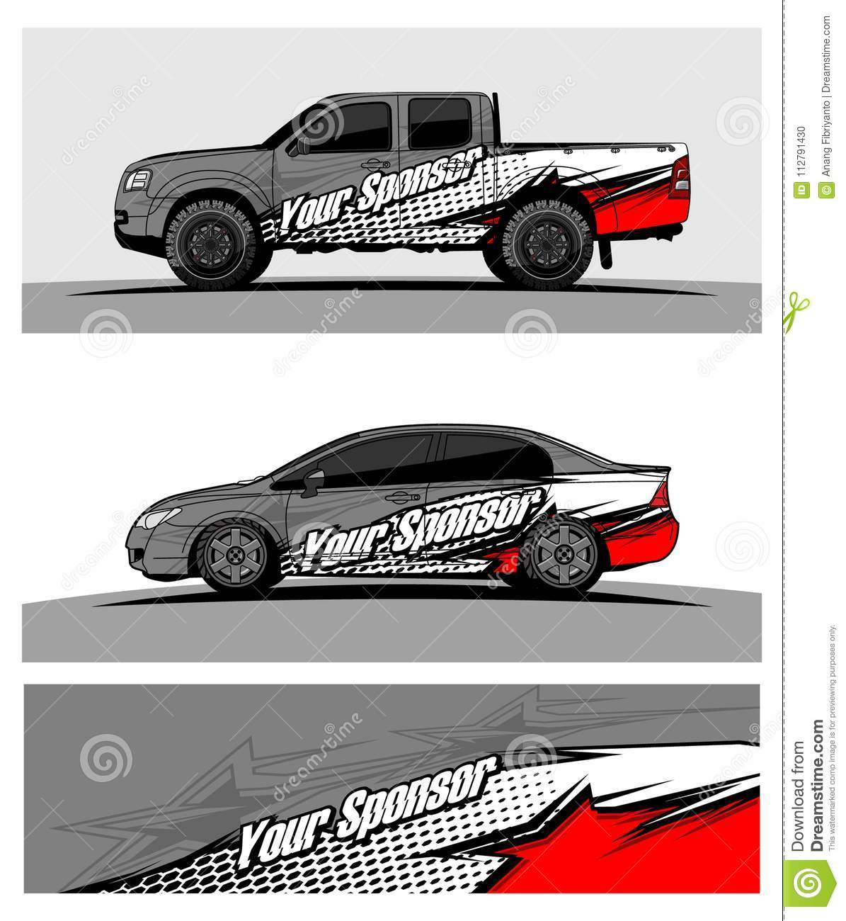 Abstract racing background for truck car and vehicles use for car wrap and vinyl cutting sticker