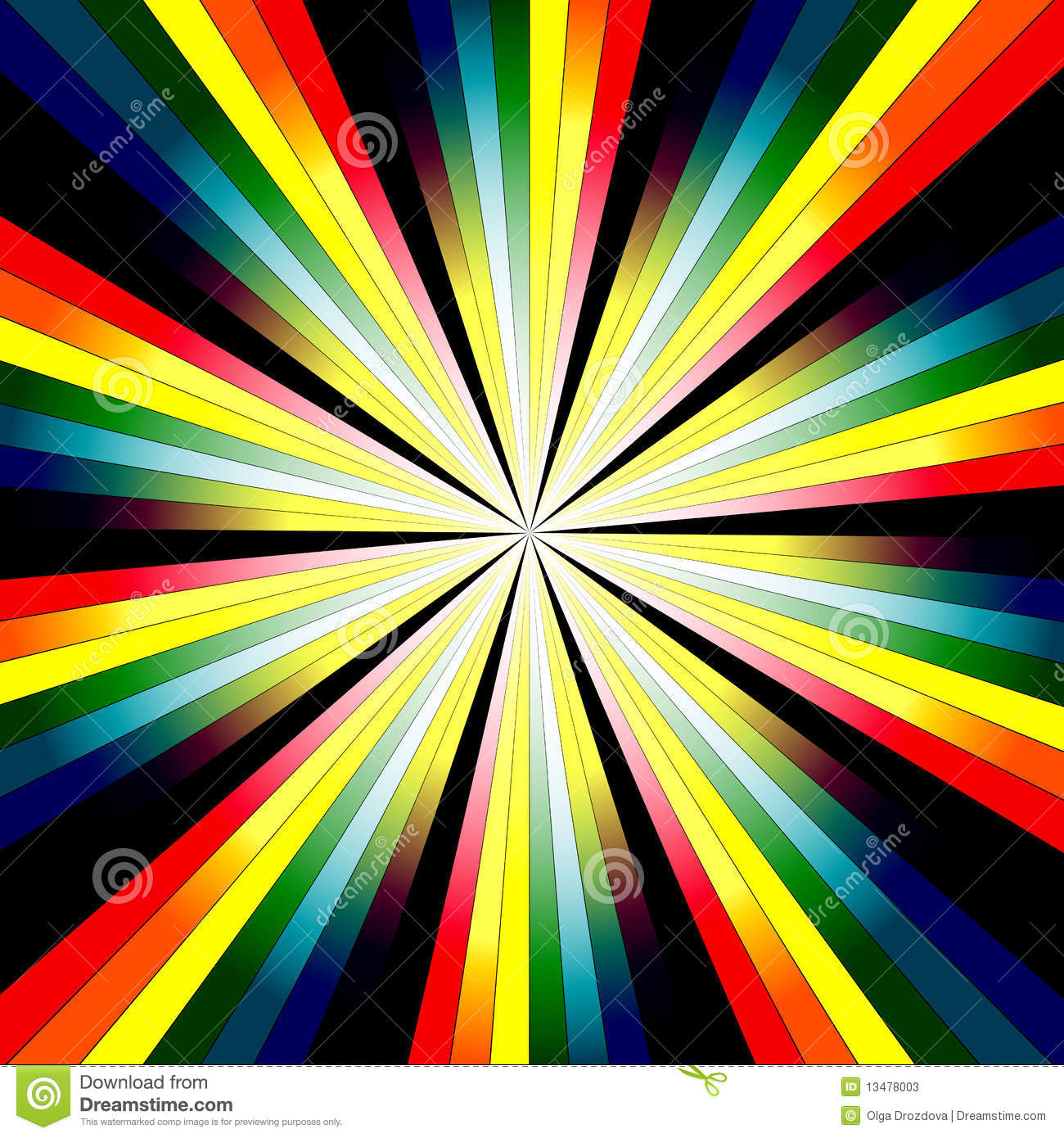 Abstract Rainbow Background Stock Vector