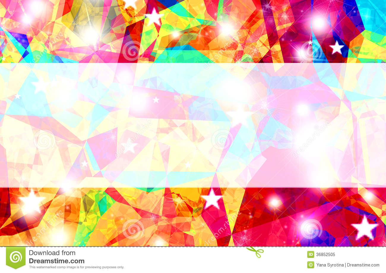 Rainbow Fireworks Celebration Colorful Abstract Image With: Abstract Rainbow Color Background With Space For Text