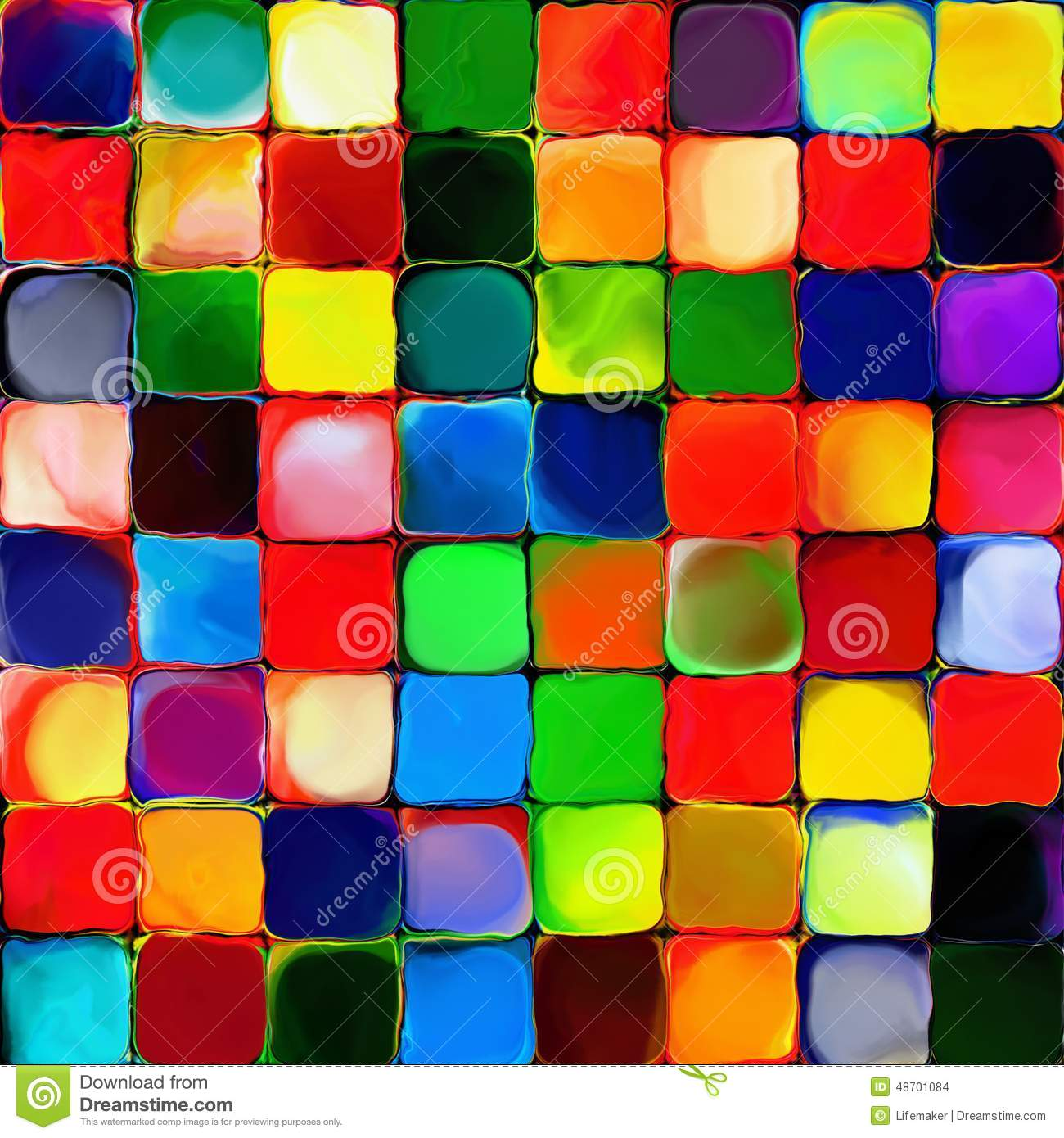 Abstract rainbow color paint tiles pattern art background - Choix des couleurs de peinture ...