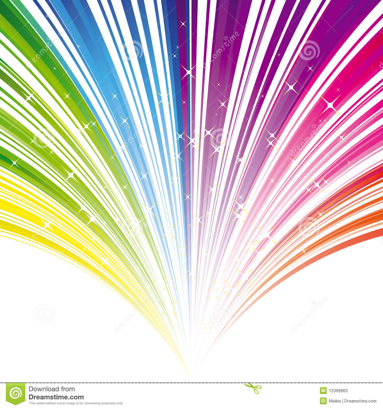 Abstract Rainbow Color Stripe Background Stock Vector