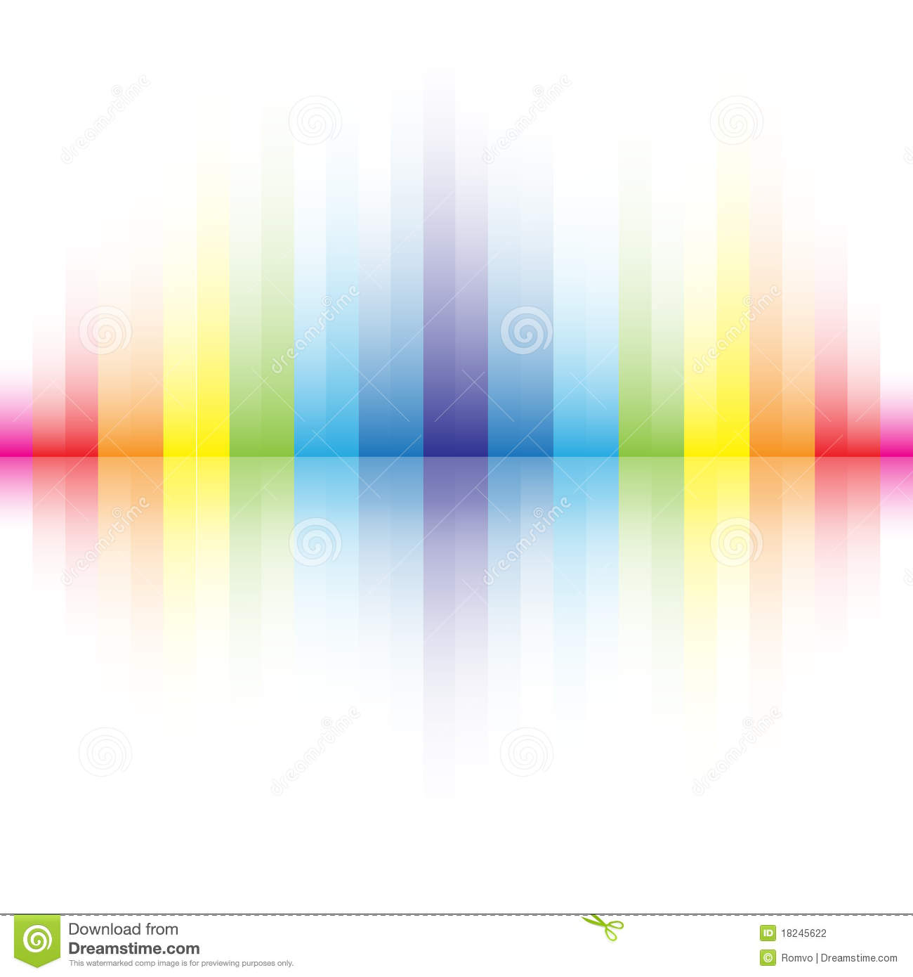 Abstract Rainbow Colors Background Stock Vector