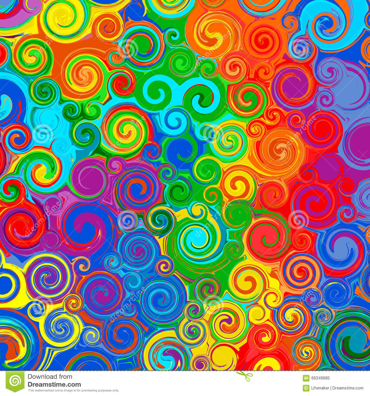 Colour Line Art Design : Abstract rainbow curved stripes color line art swirl