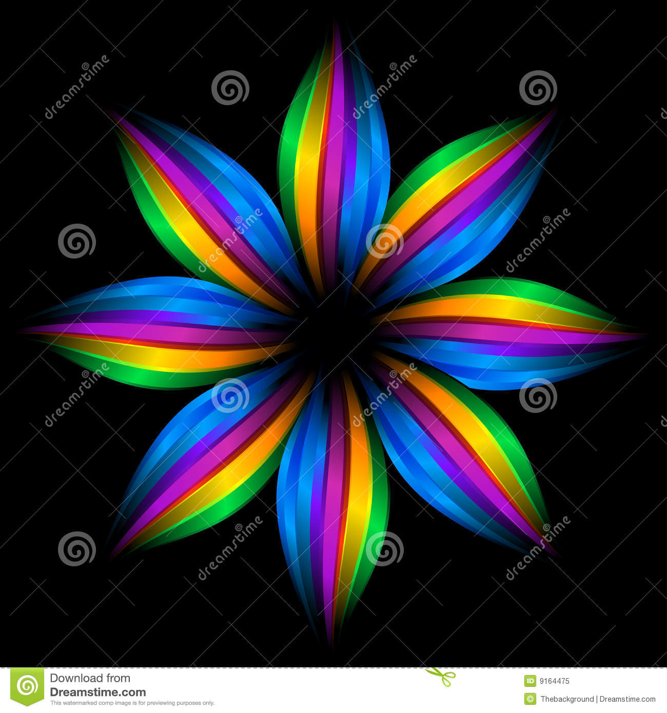 Abstract Rainbow Flower Royalty Free Stock Photo - Image: 9164475