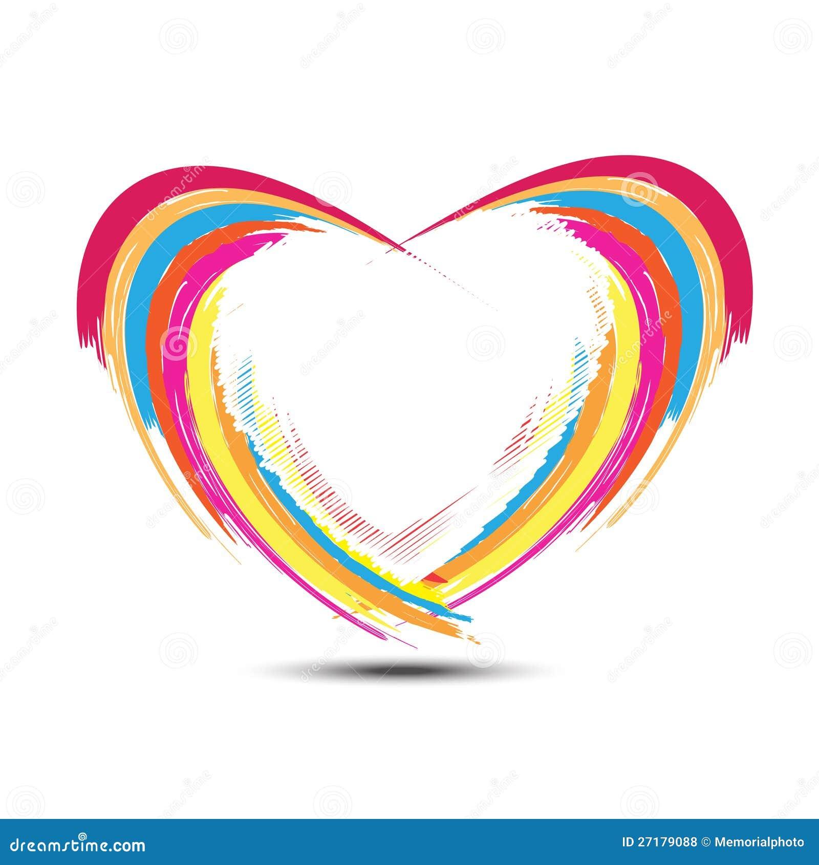 Abstract Rainbow Heart Design Stock Vector - Illustration ...