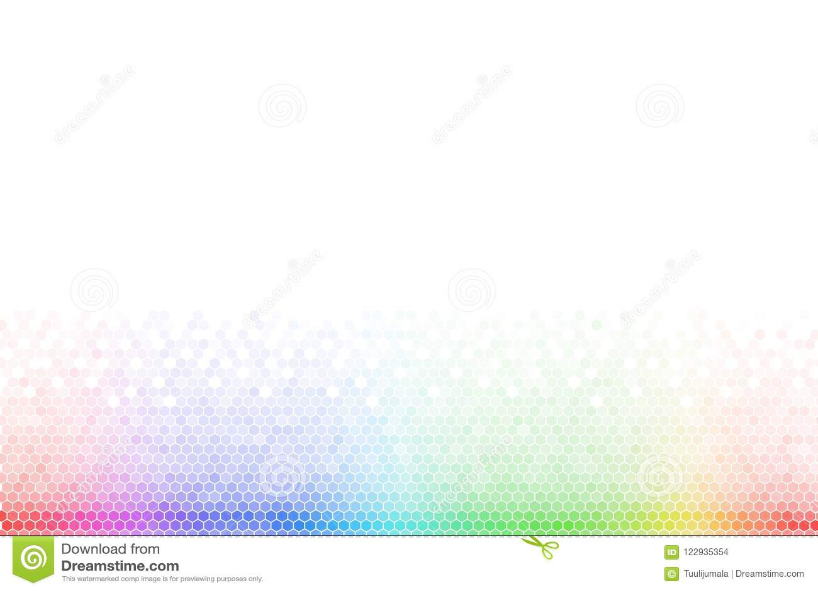 Abstract Rainbow Hexagon Mosaic Background Stock Vector