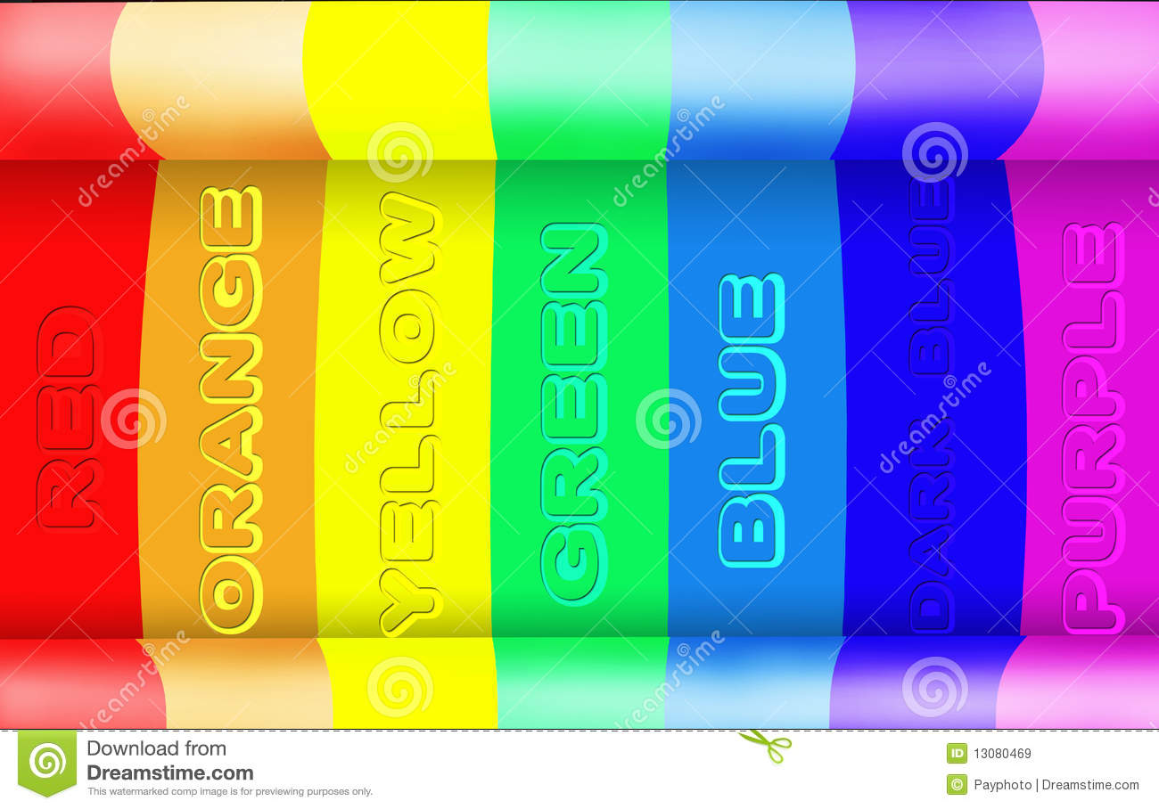 Rainbow Notes On Light Background Stock: Abstract Rainbow Light Background Stock Image