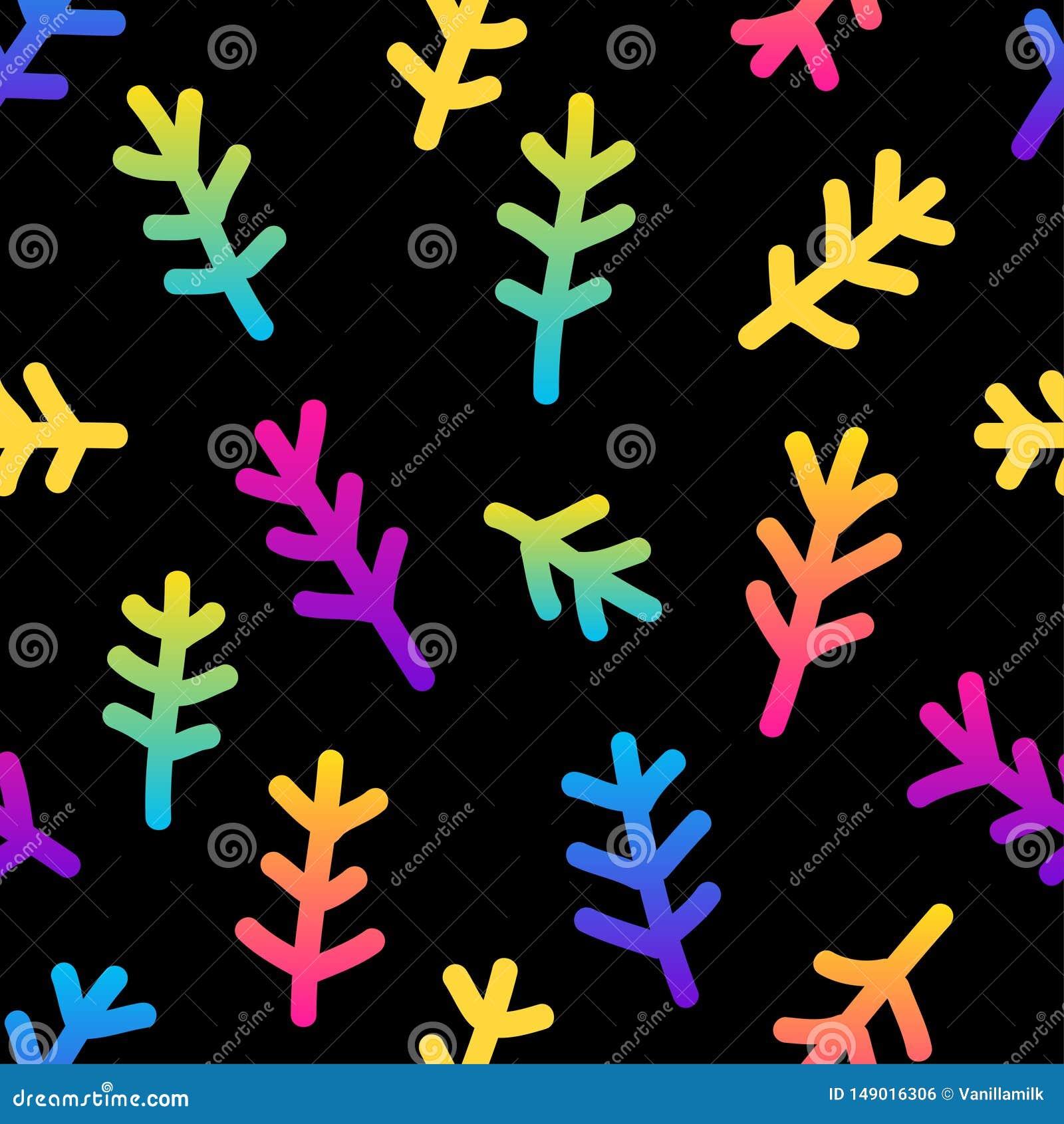 Abstract Rainbow Seamless Pattern Background. Modern ...