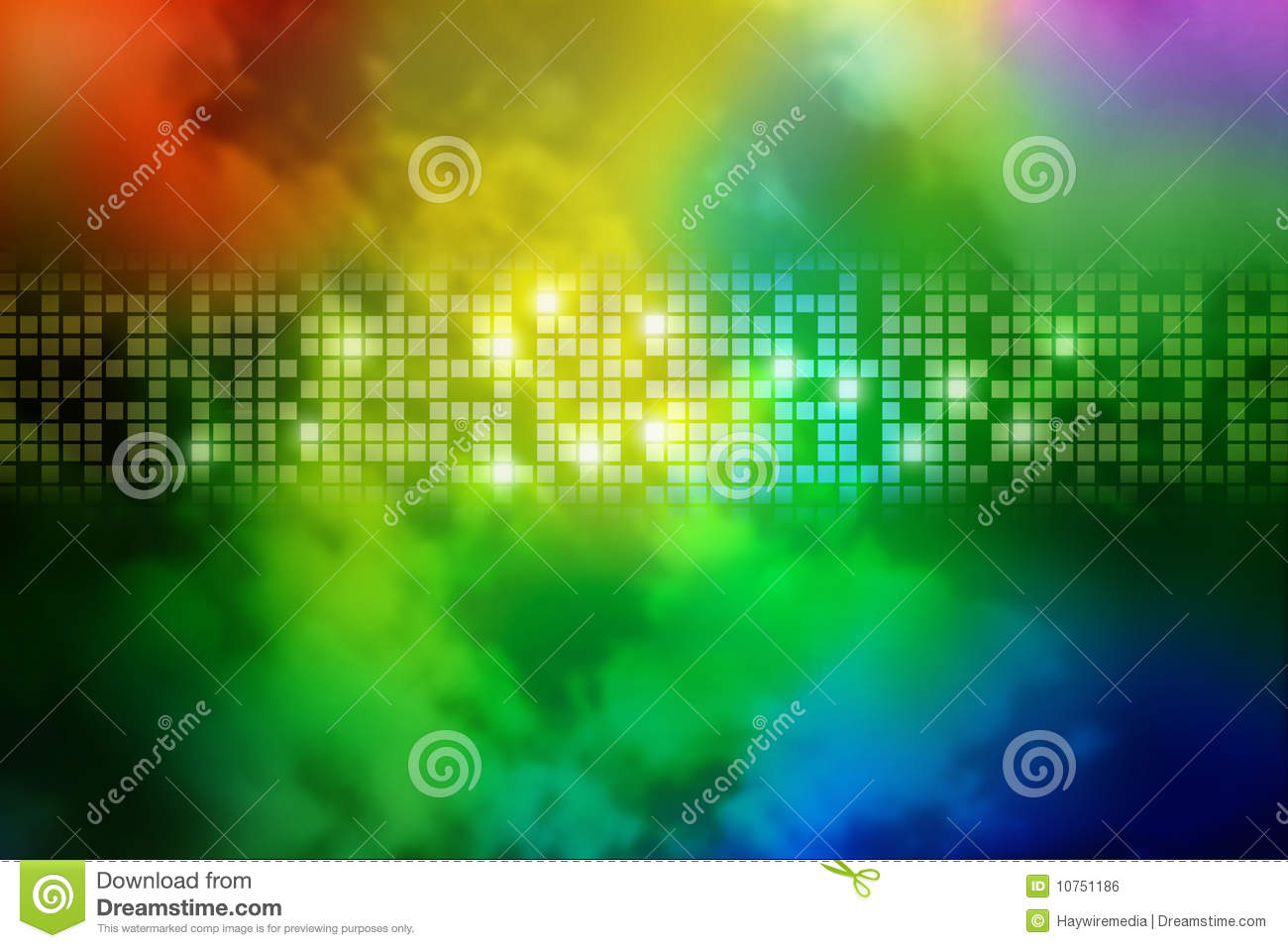 Abstract Rainbow Smoke Square Background