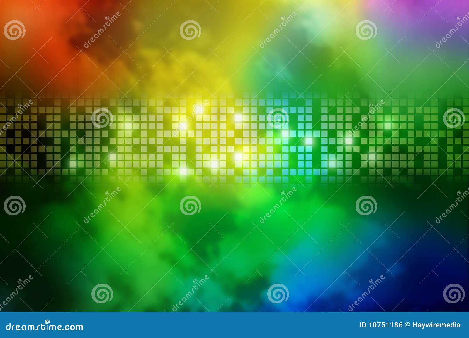 Abstract Rainbow Smoke Square Background Stock Photo