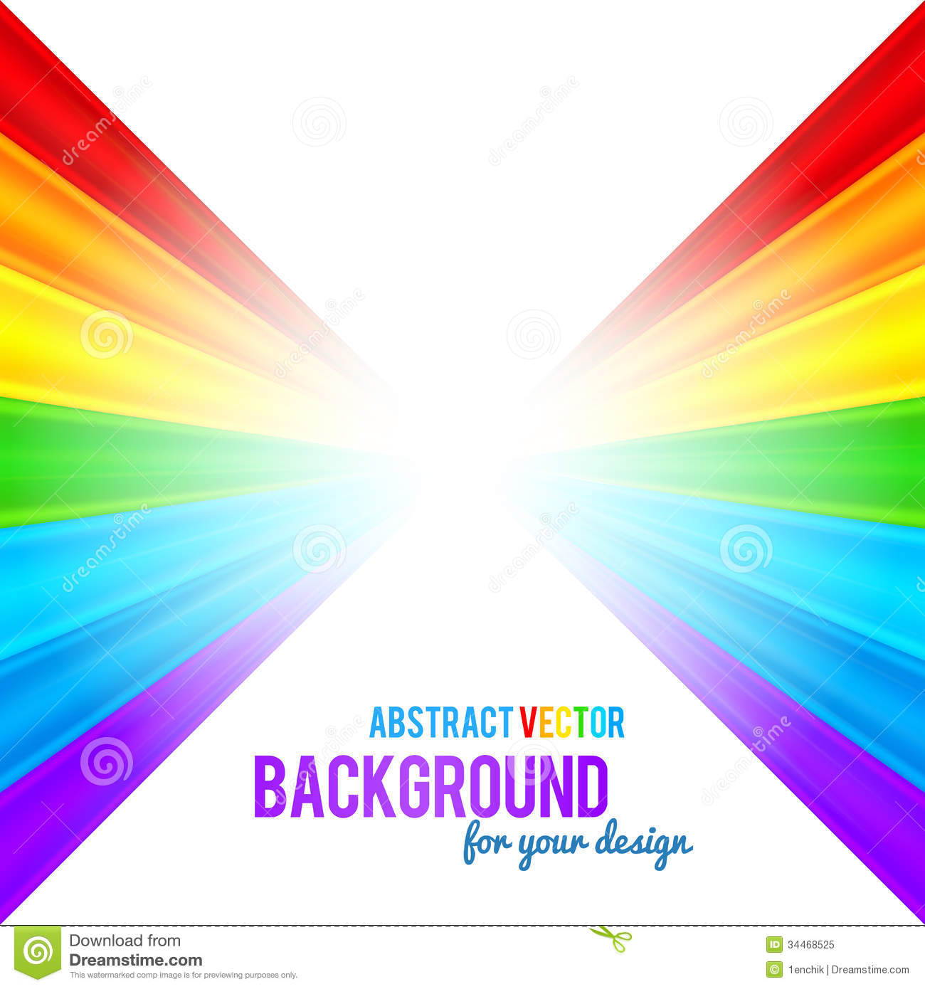 Abstract Rainbow Stripes Vector Background Stock Vector