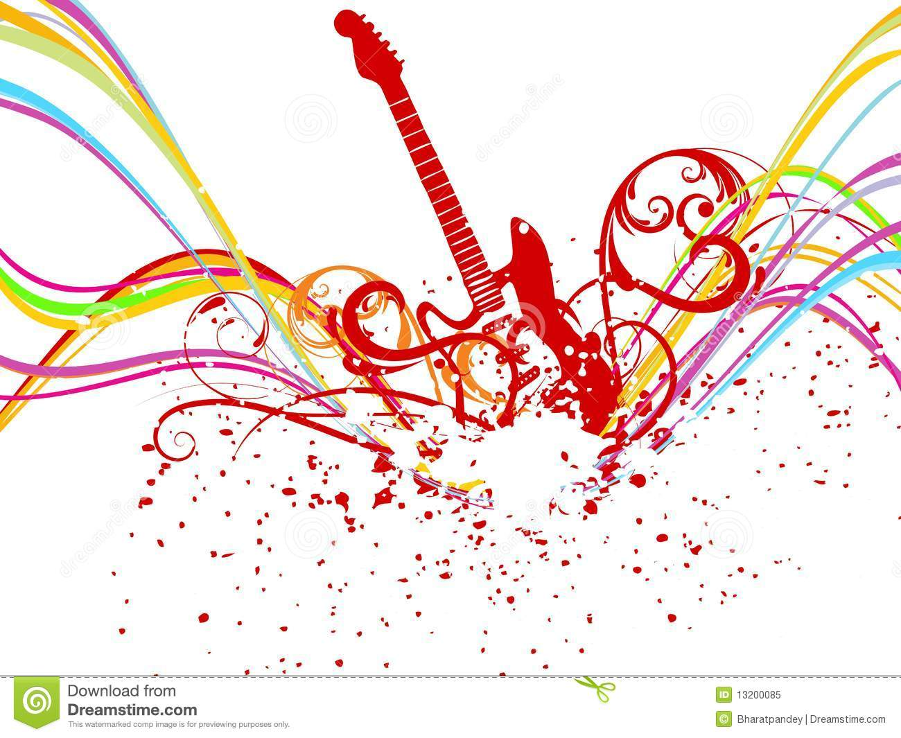 Rainbow Music Stock Images: Abstract Rainbow Wave Line With Music Royalty Free Stock