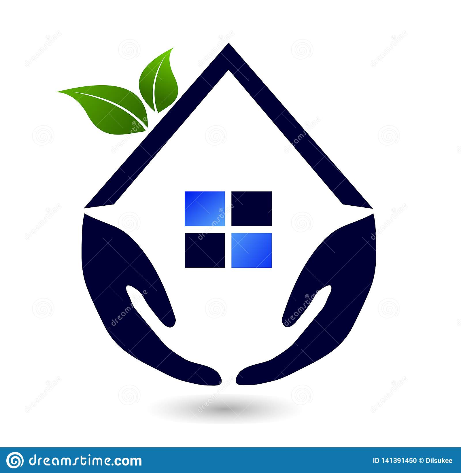Abstract real estate people family green House roof and home logo vector element icon design vector on white background.