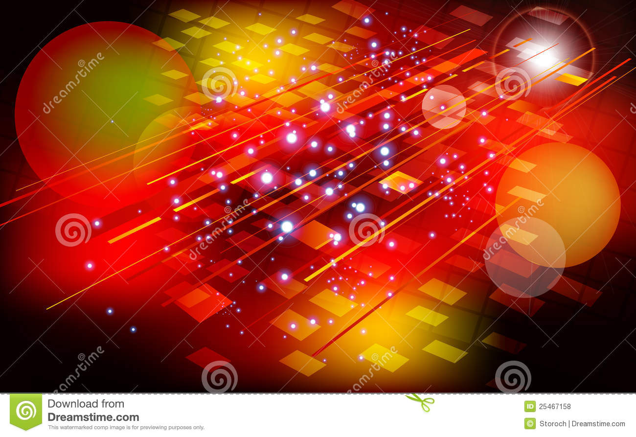 Abstract Red Background With Light Effect Stock Vector