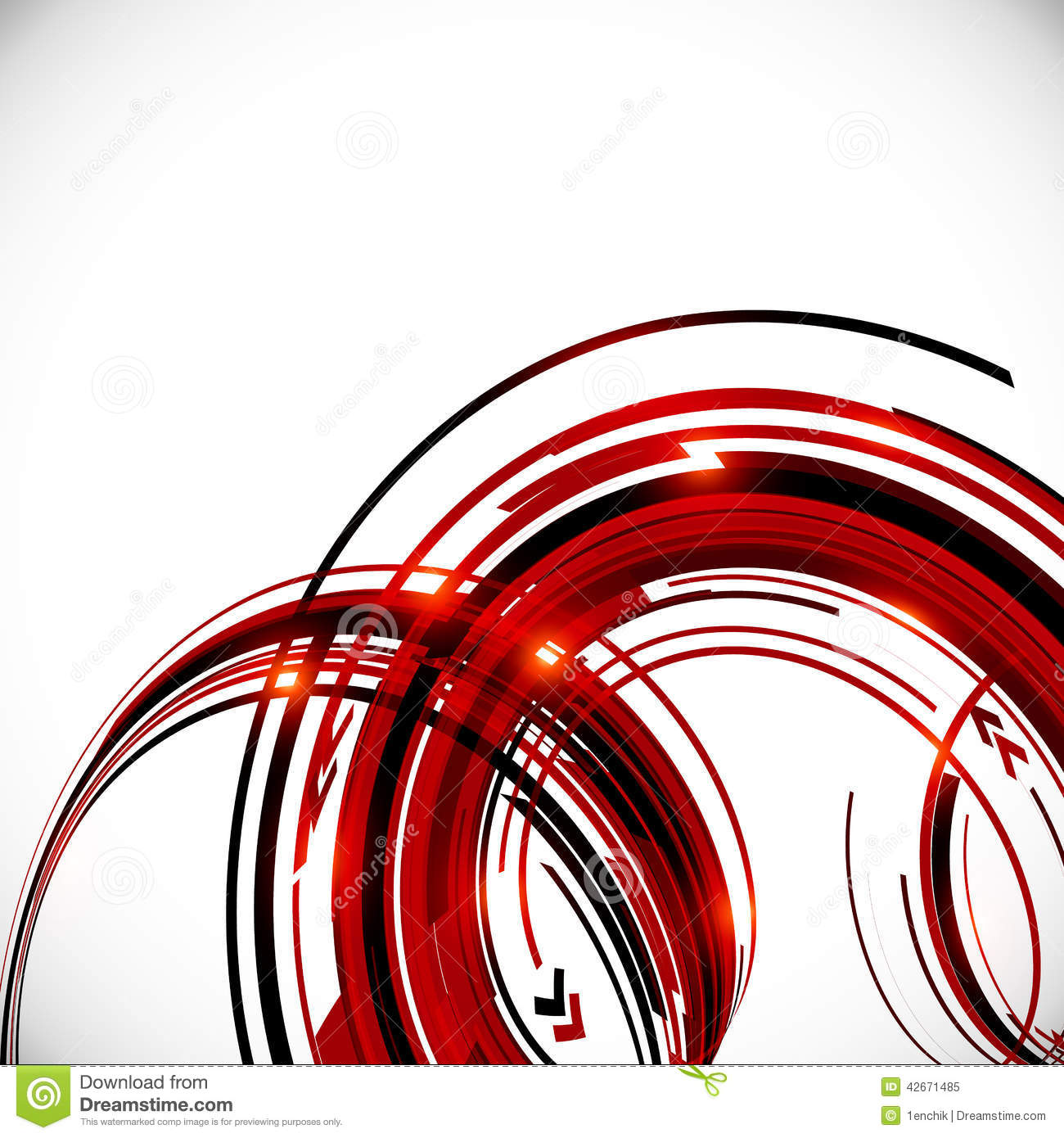 Abstract Red And Black Circles Background Stock Vector ...