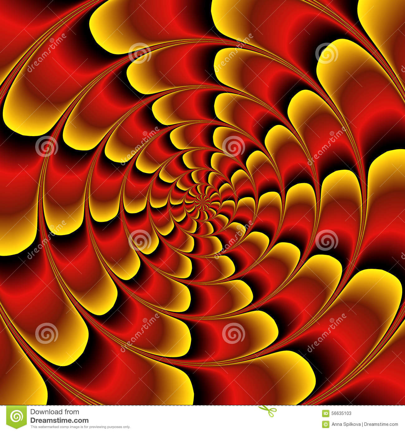Abstract Red, Black And Gold Background With Rippling