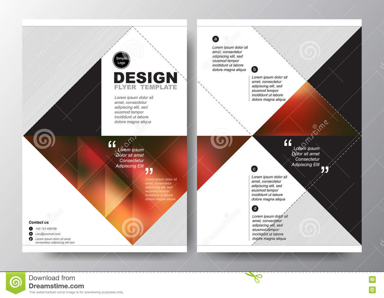 Poster design layout - Abstract Red Black Triangle Background For Minimal Poster Brochure Flyer Design Layout Vector Template In A4