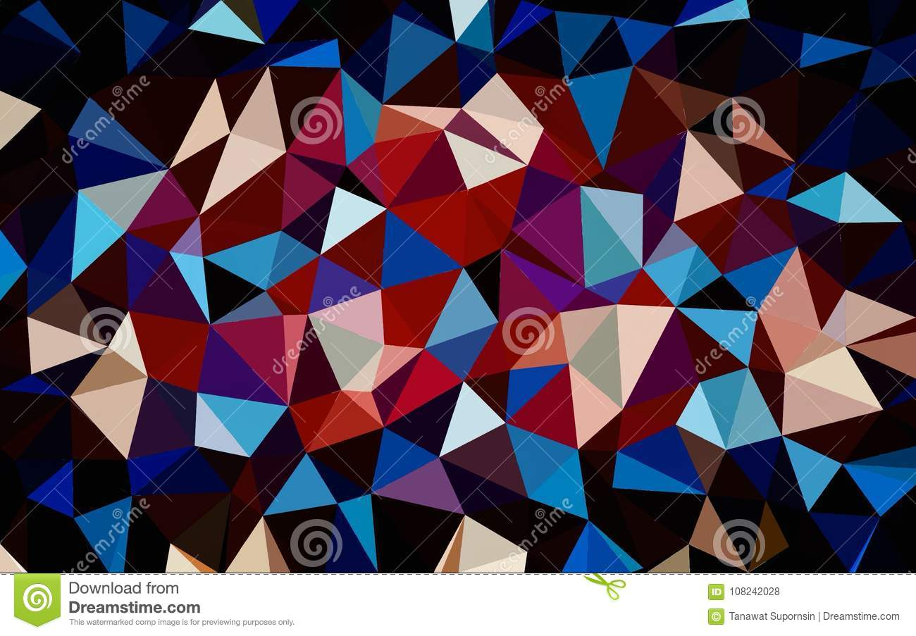 Abstract Red Blue Black White Color Polygon Wallpaper Stock