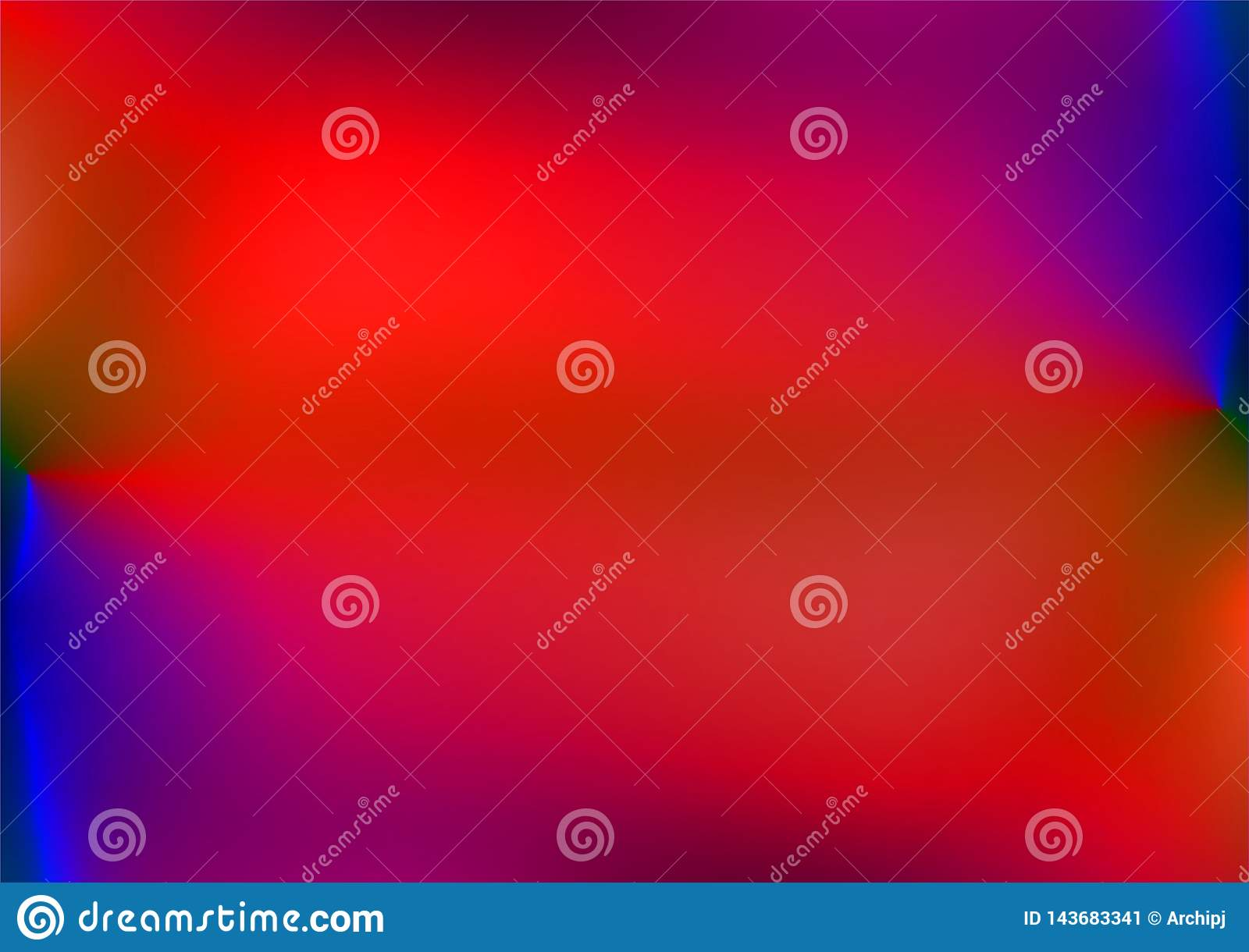 Abstract Red And Blue Blur Color Gradient Background For