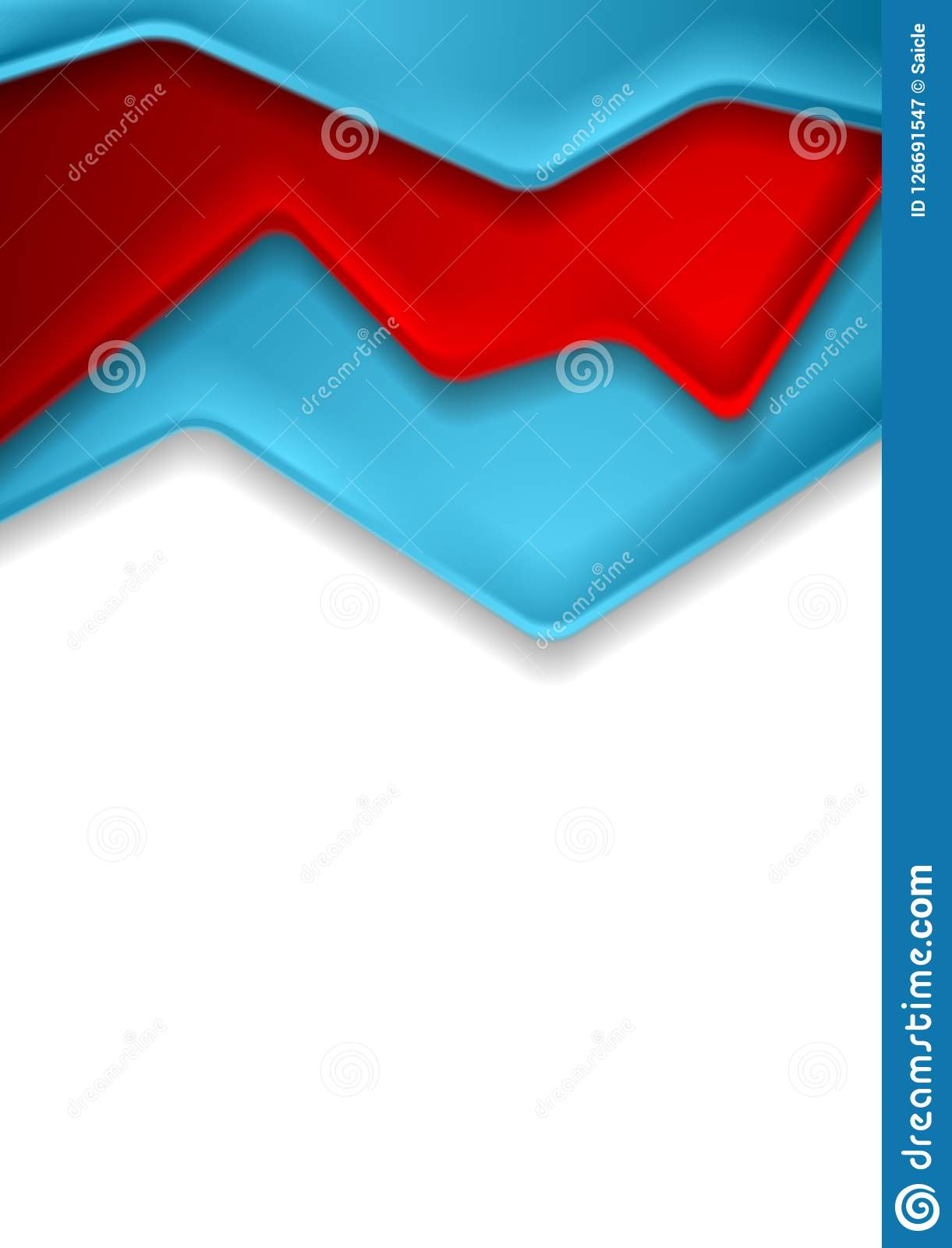 Abstract Red And Blue Corporate Contrast Background Stock