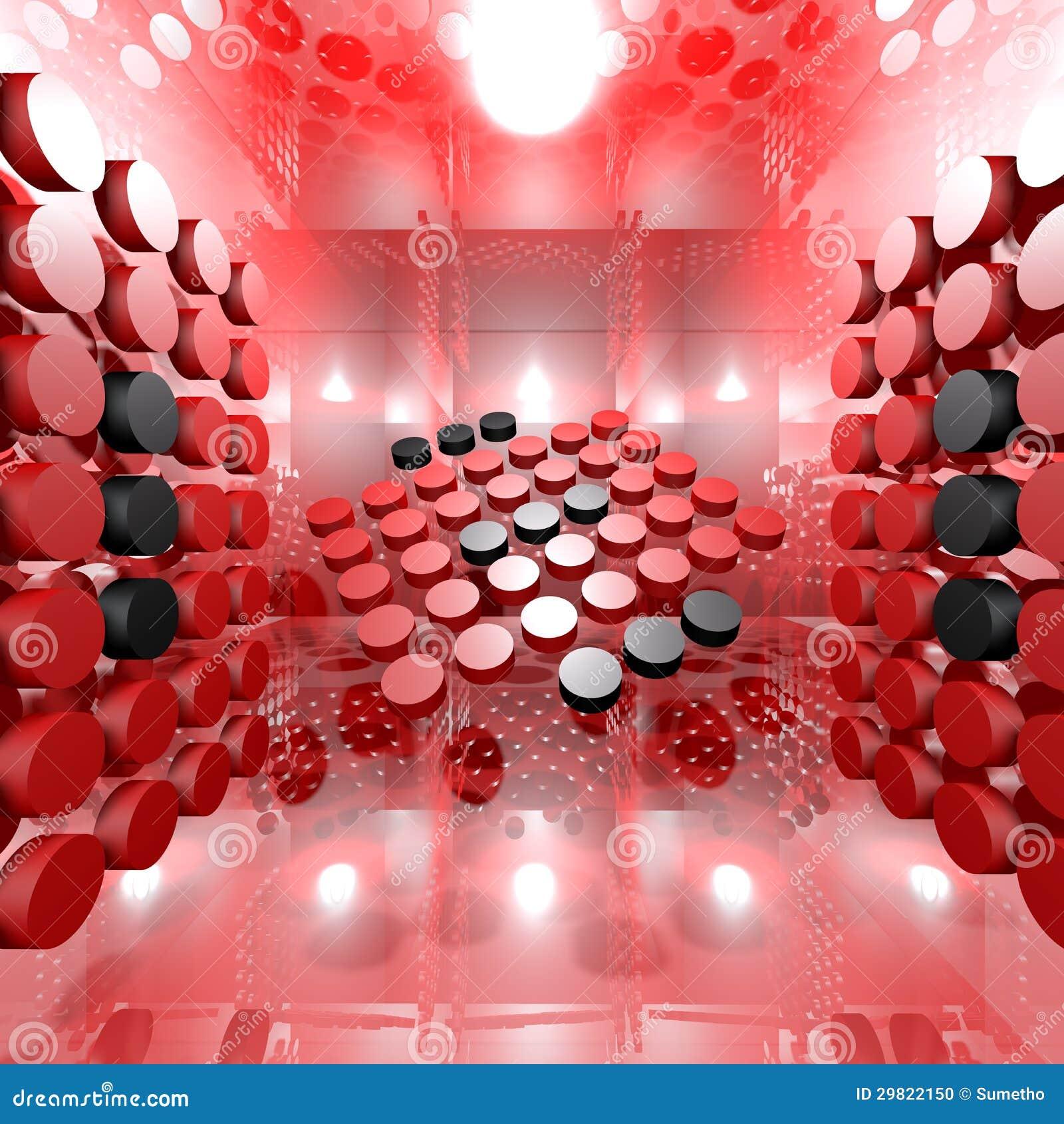 Red Digital Interior Room Stock Photo Image 29822150
