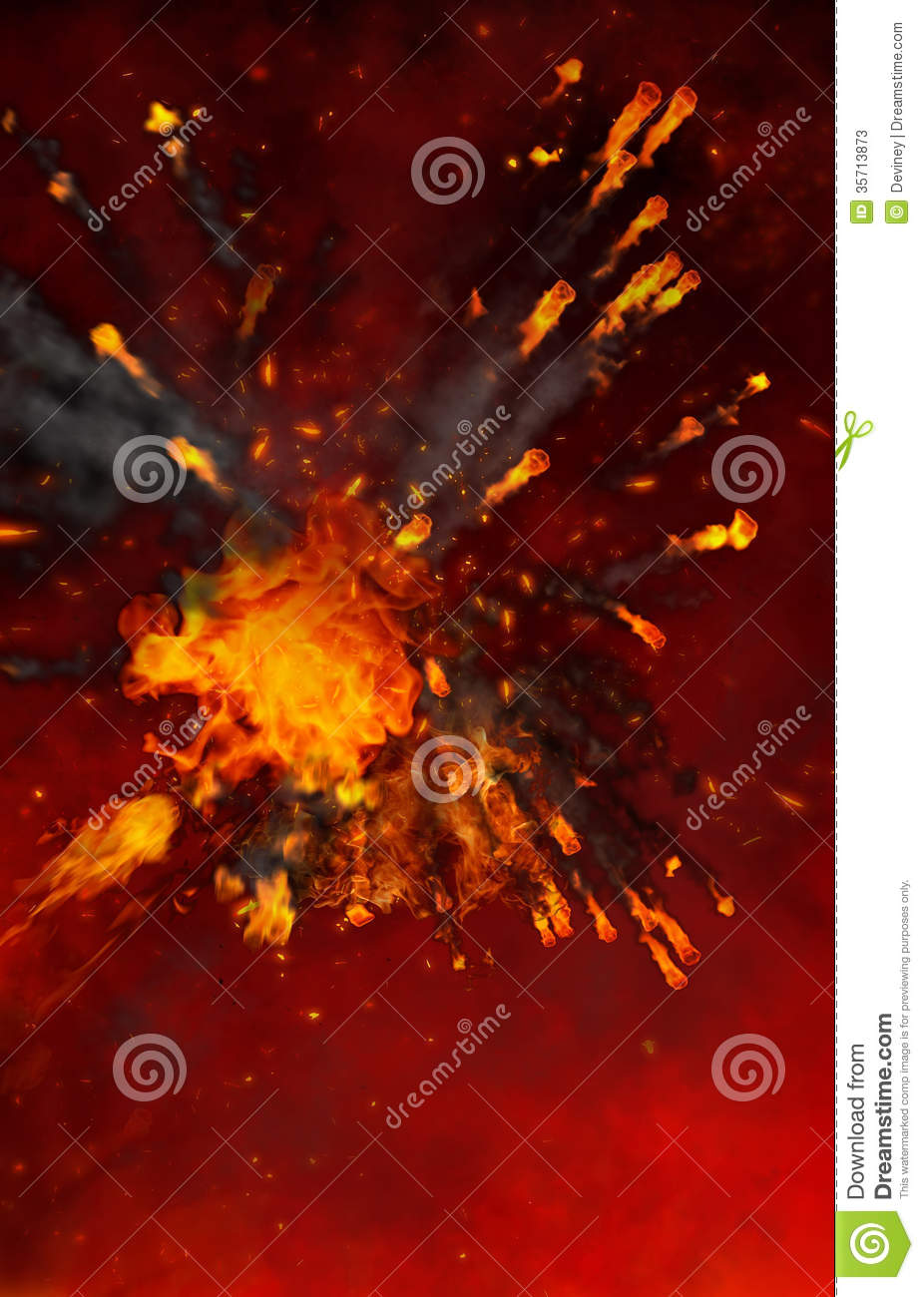 Calendar Maker Art Explosion : Abstract fiery rooster symbol of on the chinese