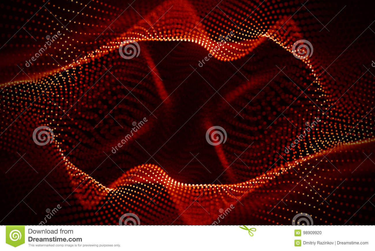 Abstract Red Geometrical Background . Connection structure. Science background. Futuristic Technology HUD Element