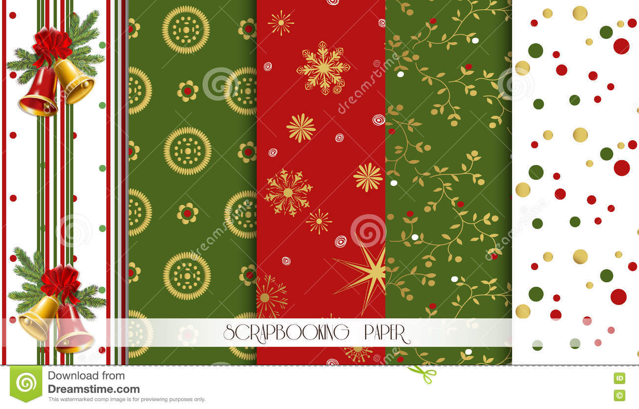 abstract red green and gold seamless patterns set christmas abstract red green and gold seamless patterns set christmas design templates vector