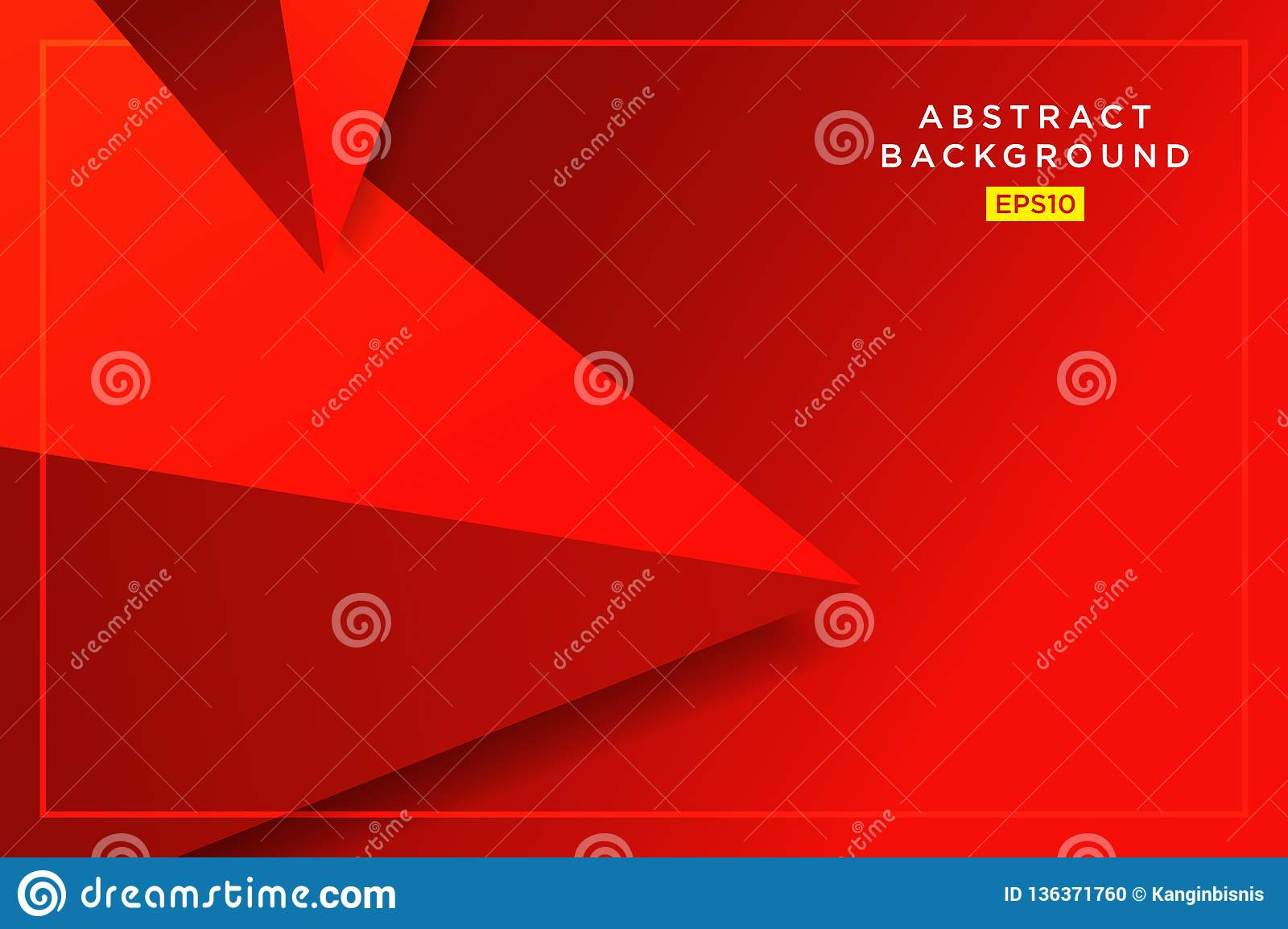 Abstract Red Hipster Futuristic Graphic Background With