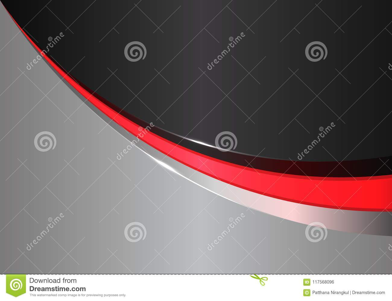Abstract red line curve on black gray design modern futuristic background vector