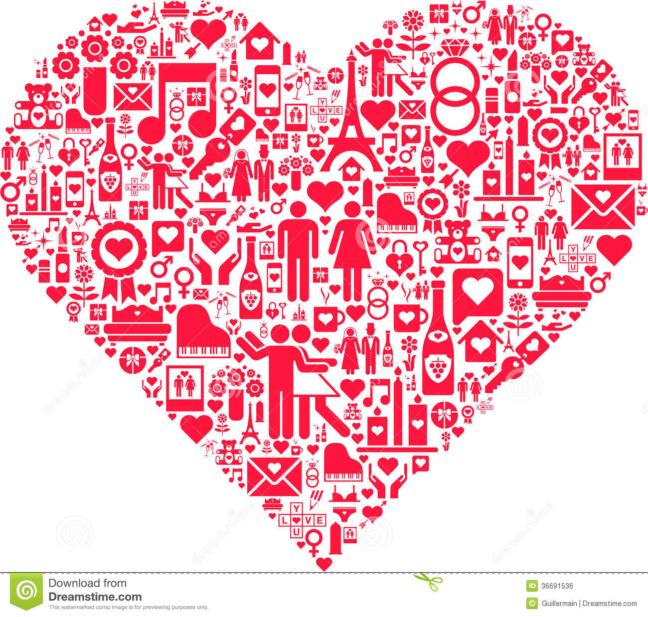 Abstract Red Love Heart Stock Vector Illustration Of Graphical