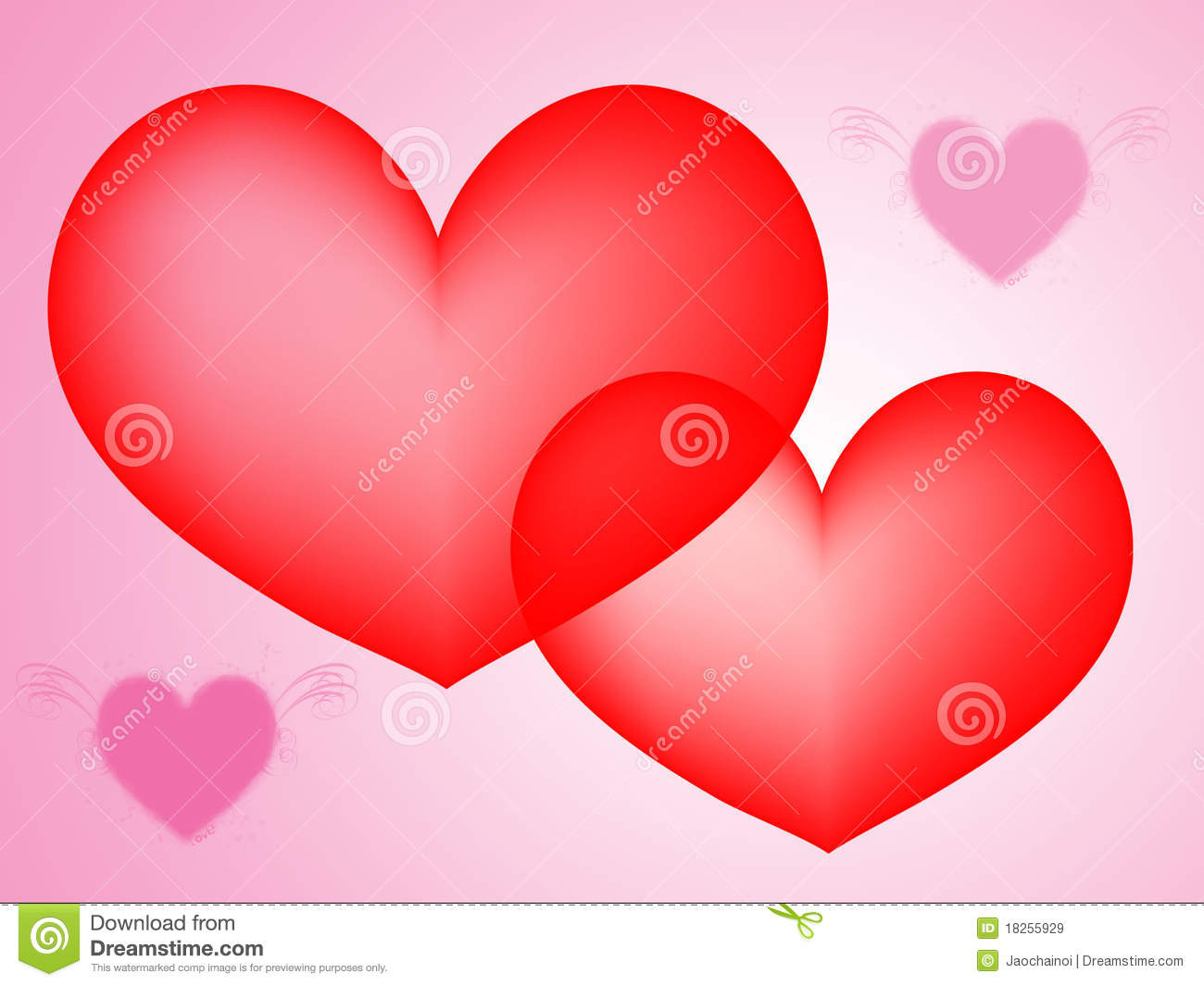 Abstract Red And Pink Hearts Background Royalty Free Stock ...