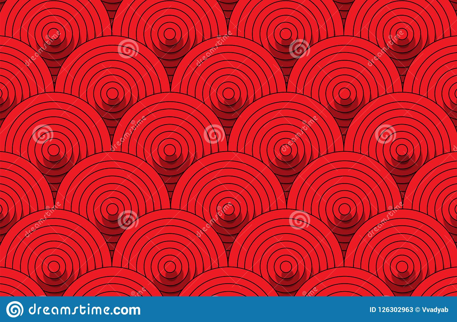 Download Abstract Red Round Pattern Wallpaper Background Stock Image