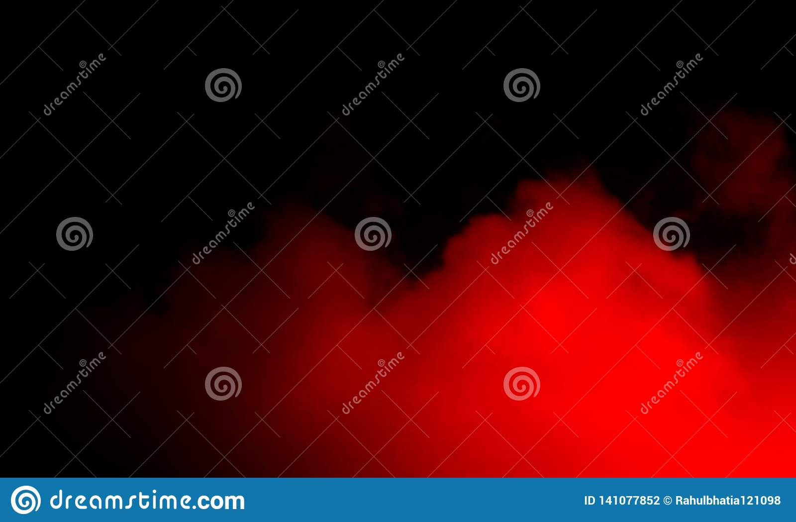 Abstract red smoke mist fog on a black background.