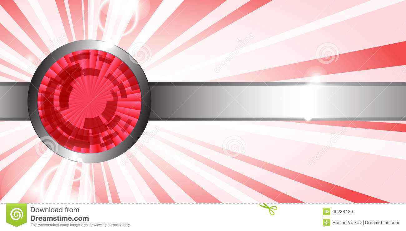 Abstract Red Technology Background Stock Vector ...