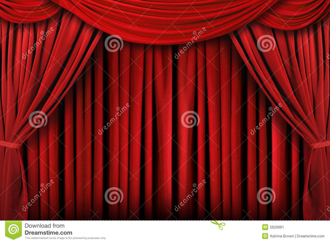 Abstract Red Theatre Stage Drape Background Stock Image