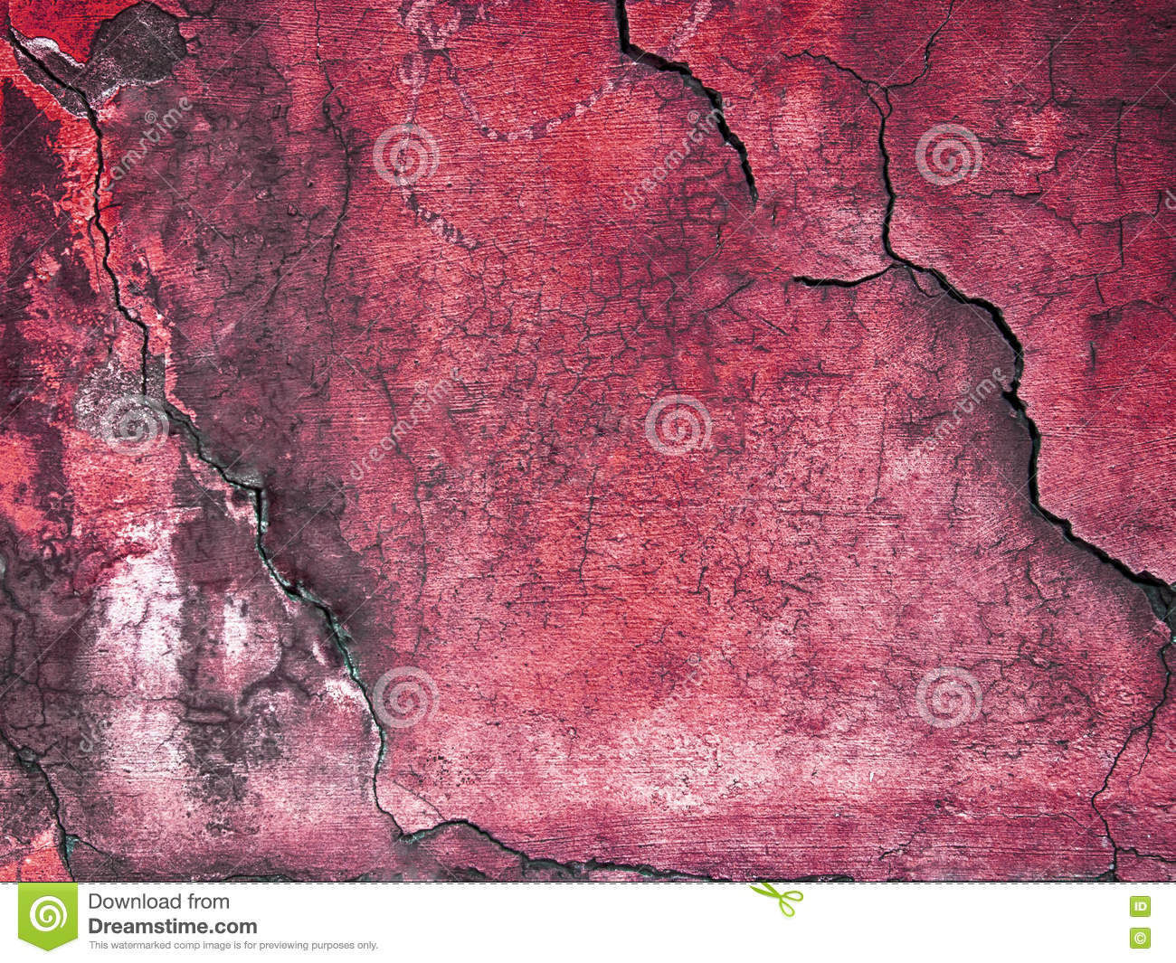 Download Abstract Red Wall Texture With Dust And Scratch Stock Image